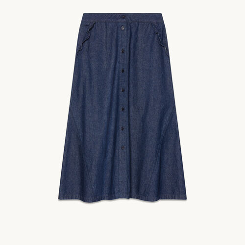 Denim midi skirt - null - MAJE