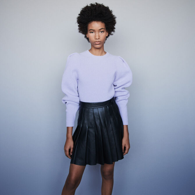 Wool sweater with balloon sleeves - staff private sale 20 - MAJE