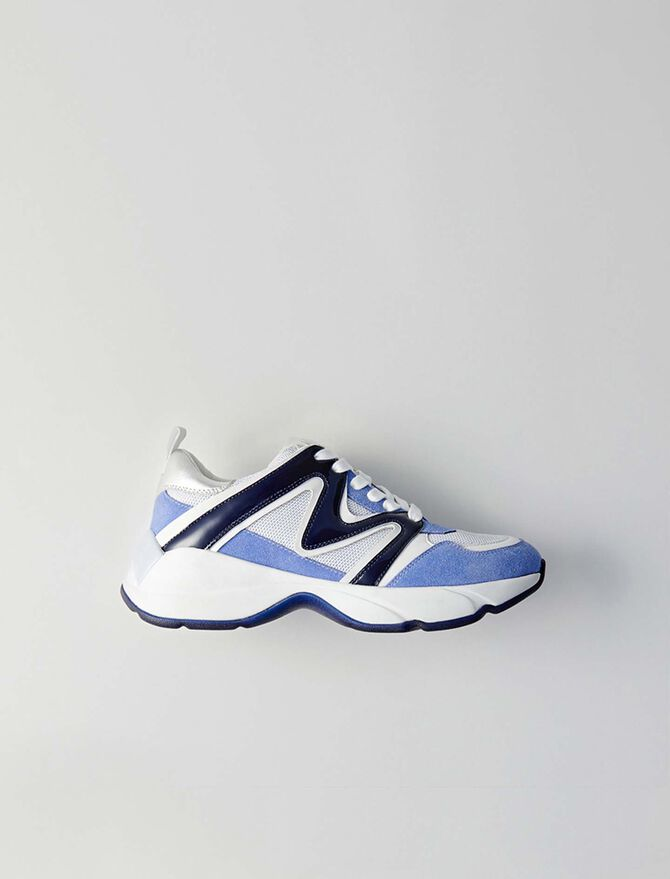 W22 mixed material sneakers - Sneakers - MAJE