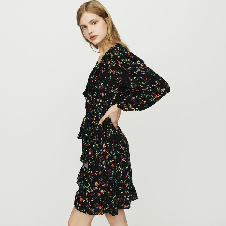 Printed wrap dress : Dresses color Printed