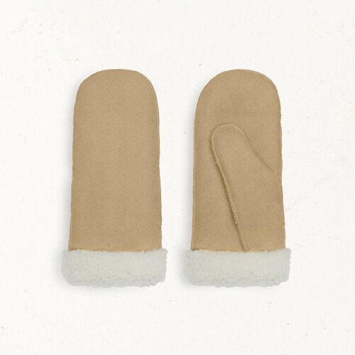Sheepskin mittens : Other accessories color Camel
