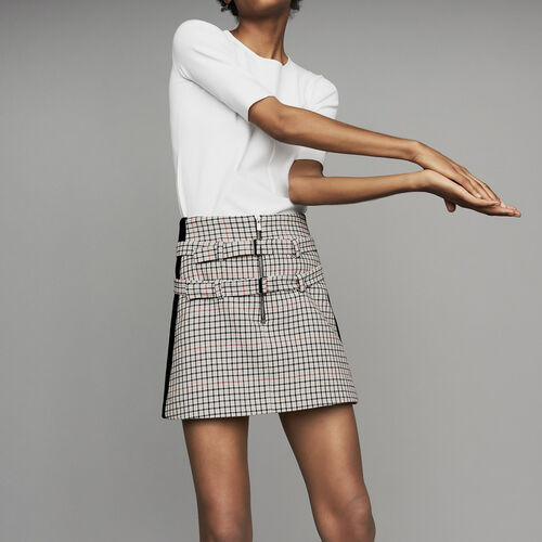 Plaid skort : Skirts & Shorts color CARREAUX