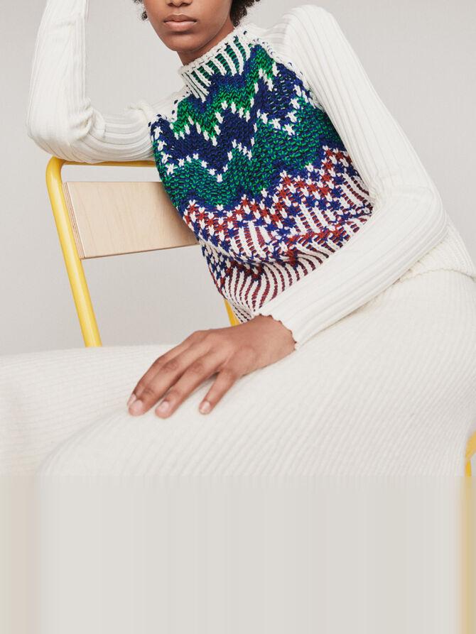 Sweater with fancy motifs - Copy of Knitwear - MAJE