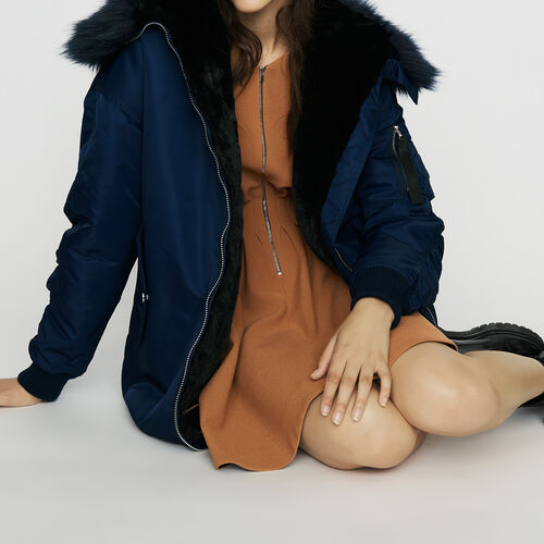 Long parka-style teddy : New Collection color Blue
