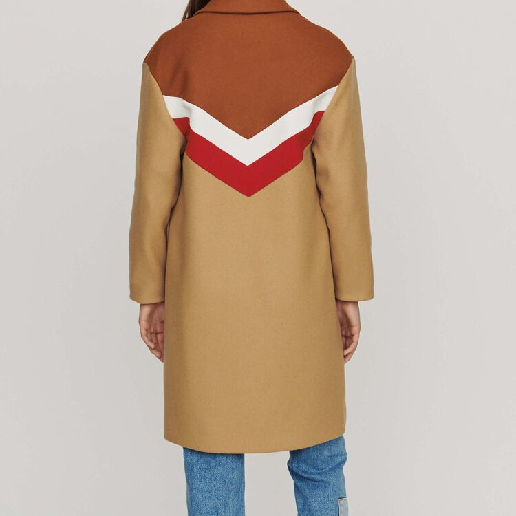 Oversize coat in virgin wool : Coats color Camel
