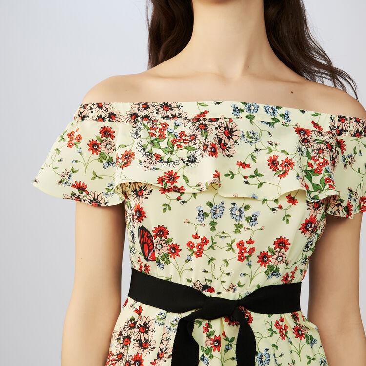 Printed silk dress : Dresses color PRINTED
