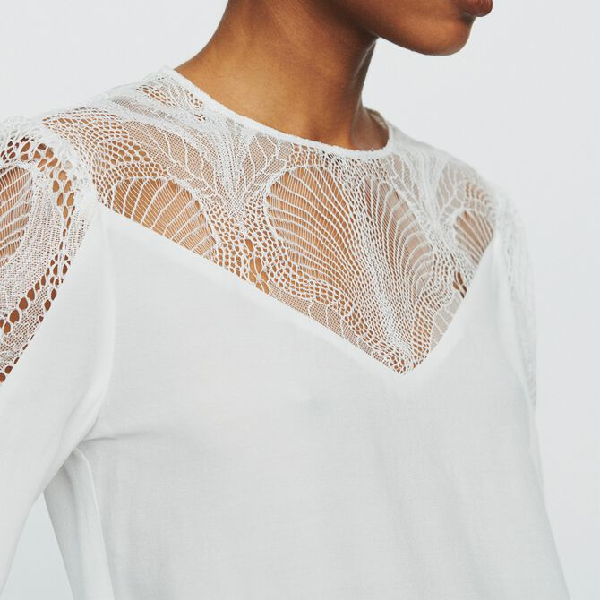 Top with lace - Tops - MAJE