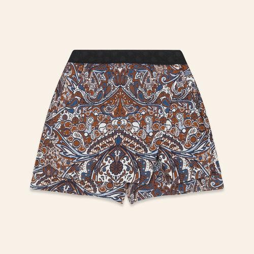2-in-1 effect jacquard shorts : Skirts & Shorts color Jacquard