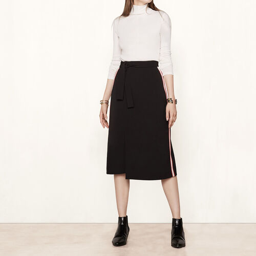 Wraparound skirt with side bands : Skirts & Shorts color Black 210
