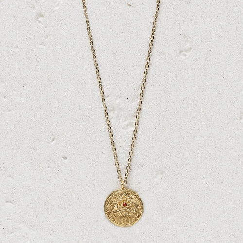 "Necklace with medallion ""Ma vie"" : Jewelry color GOLD"