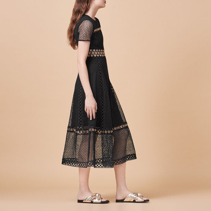 Long embroidered dress -  - MAJE