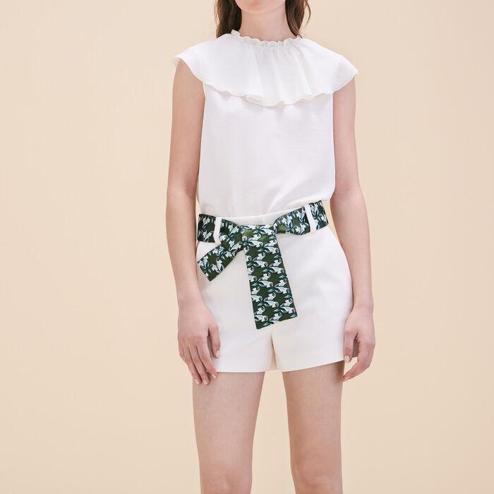 Shorts with jacquard belt - Hello Summer - MAJE