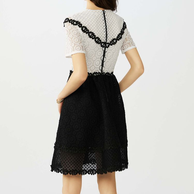 Skater dress in bicolored lace : Dresses color Two-Tone