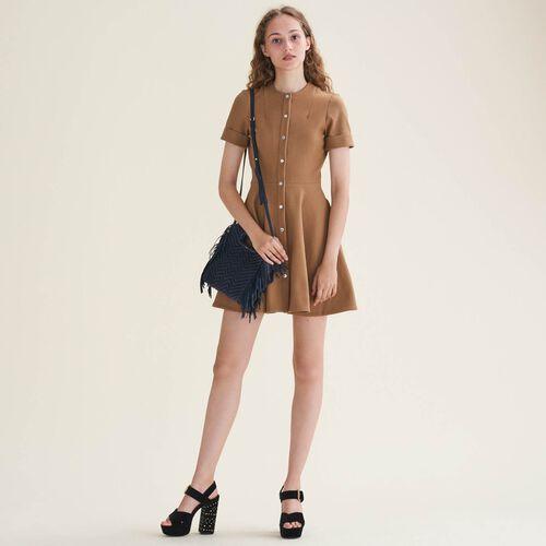 Buttoned skater dress - Dresses - MAJE