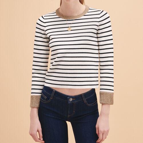 Breton knitted jumper : Sweaters & Cardigans color Ecru