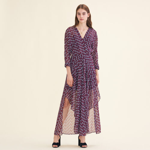 Long dress with graphic print - Dresses - MAJE