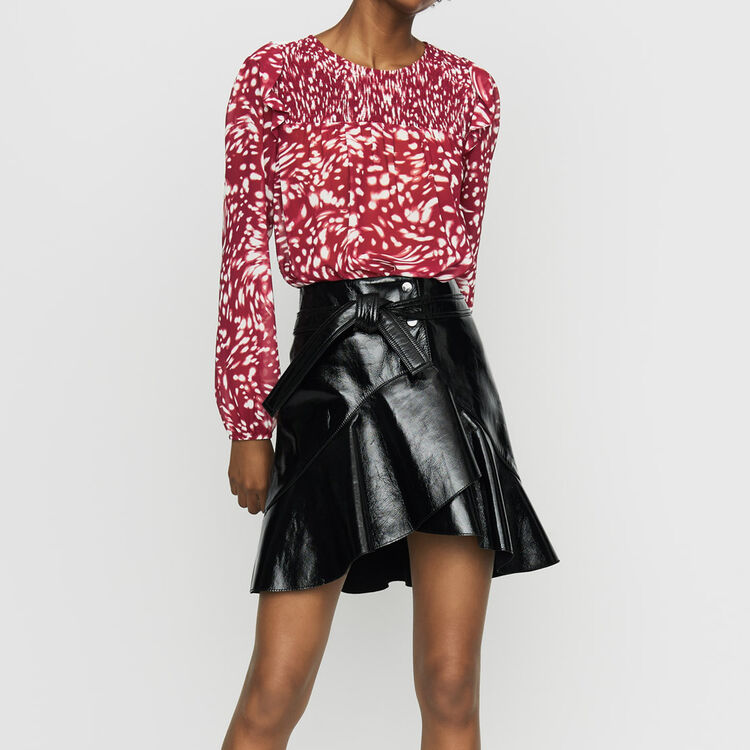 Ruffled printed blouse : Tops color PRINTED