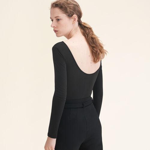 Long-sleeved jersey body - Tops - MAJE