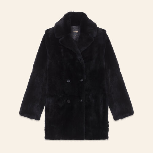 Rabbit coat : Coats color Black 210
