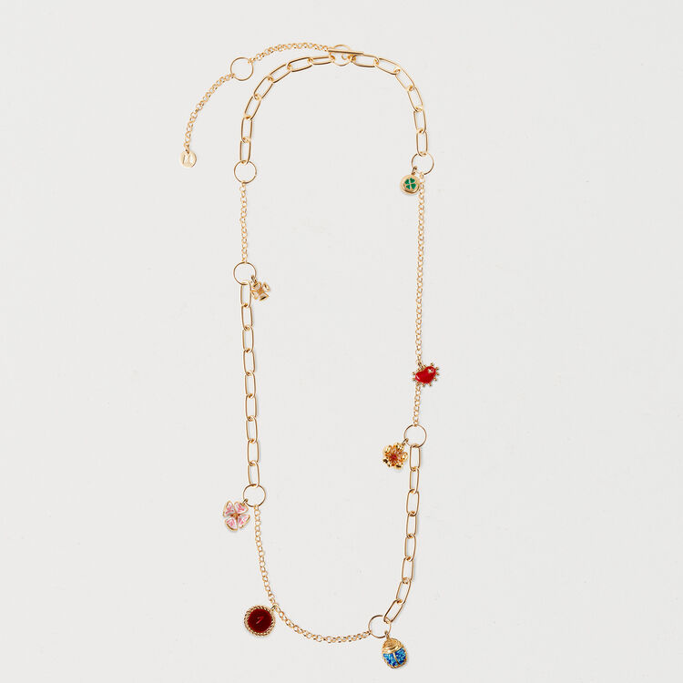 Necklace with mixed links : Jewelry color GOLD