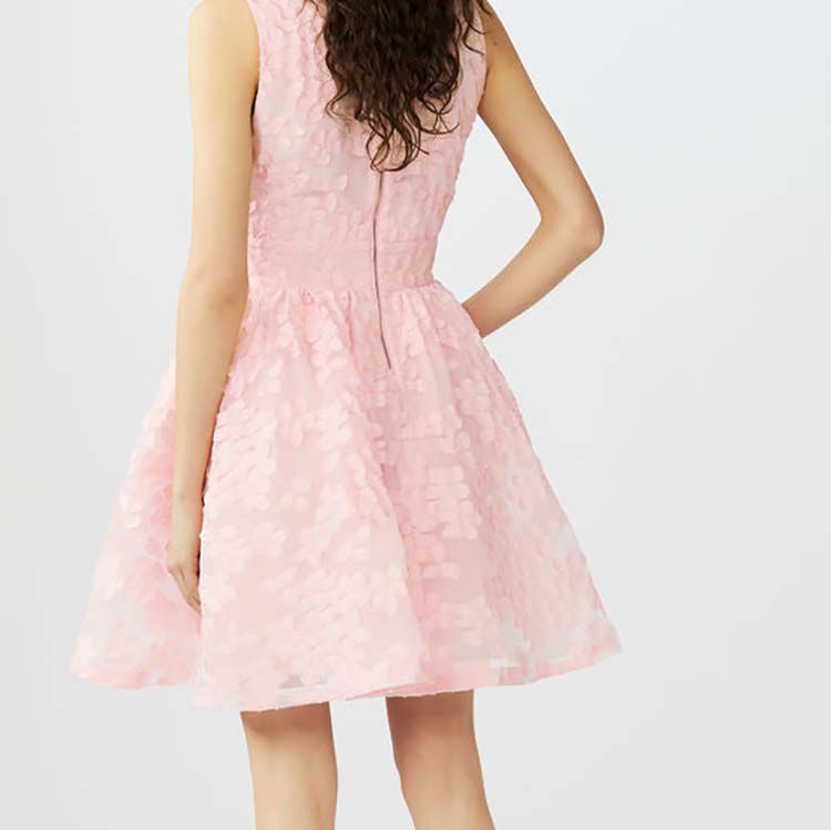 Sleeveless basket-weave knit dress : Dresses color Pink