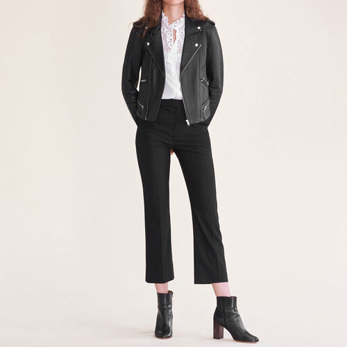Formal wool trousers - Trousers - MAJE