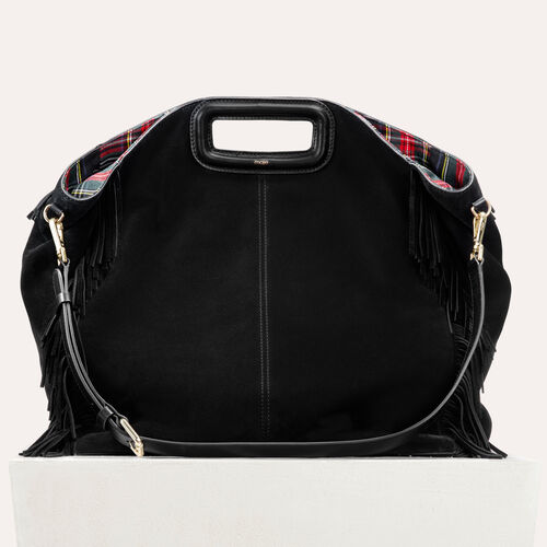 Tote with suede fringe : Other M color Black 210