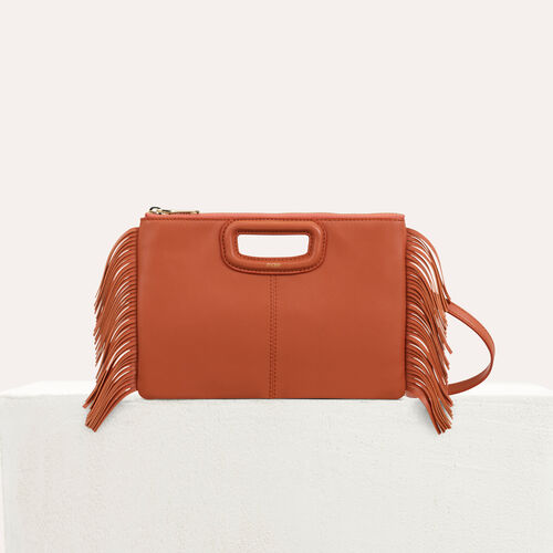 M Duo purse in leather : M Duo color Black 210