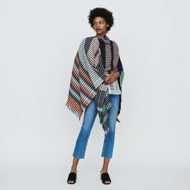 Poncho in stripes : New in : Summer Collection color Multico