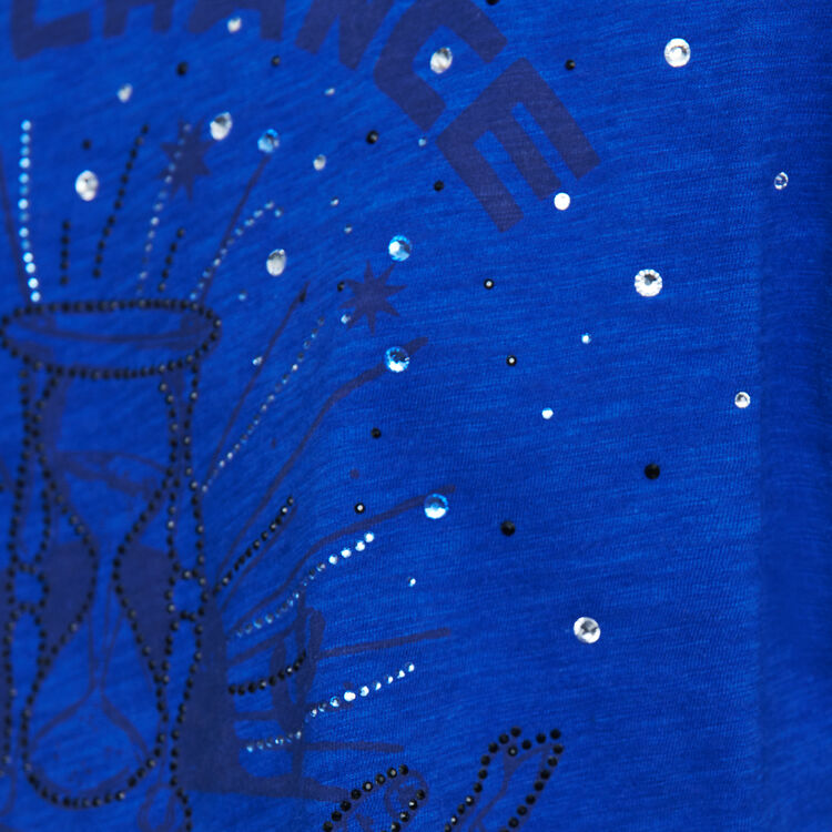 Embroidered tee shirt : T-Shirts color Blue