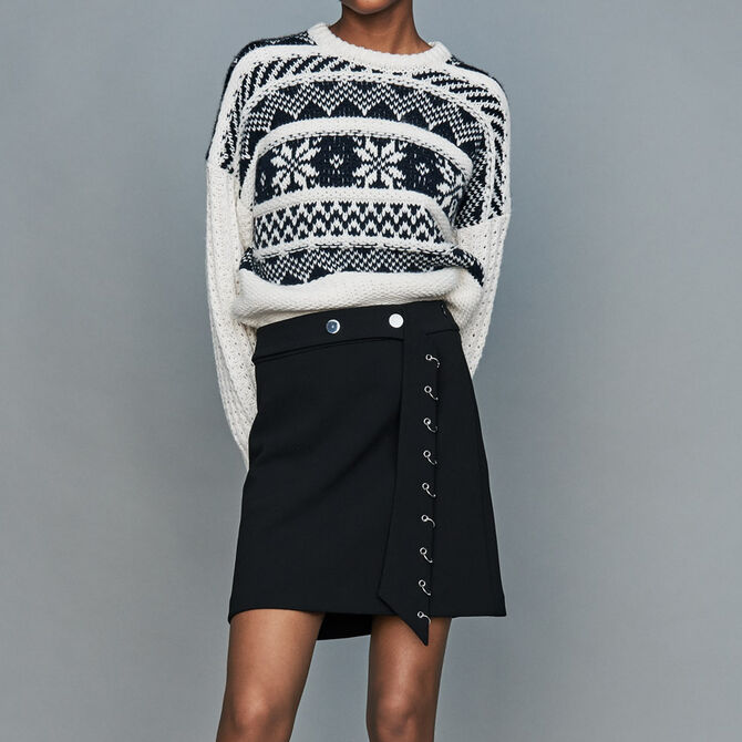 Jacquard knit sweater - See all - MAJE
