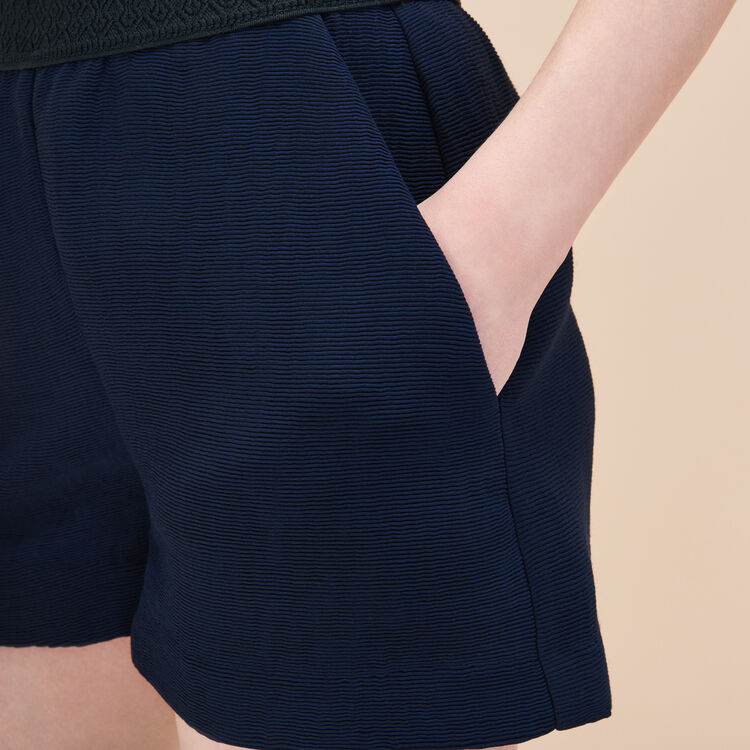 Short shorts in ottoman fabric : Low Prices color Navy