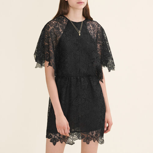 Short guipure dress : Fall Winter Collection color Black 210