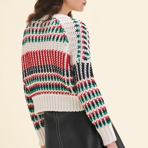 Decorative multi-coloured knit jumper : Knitwear color Multico