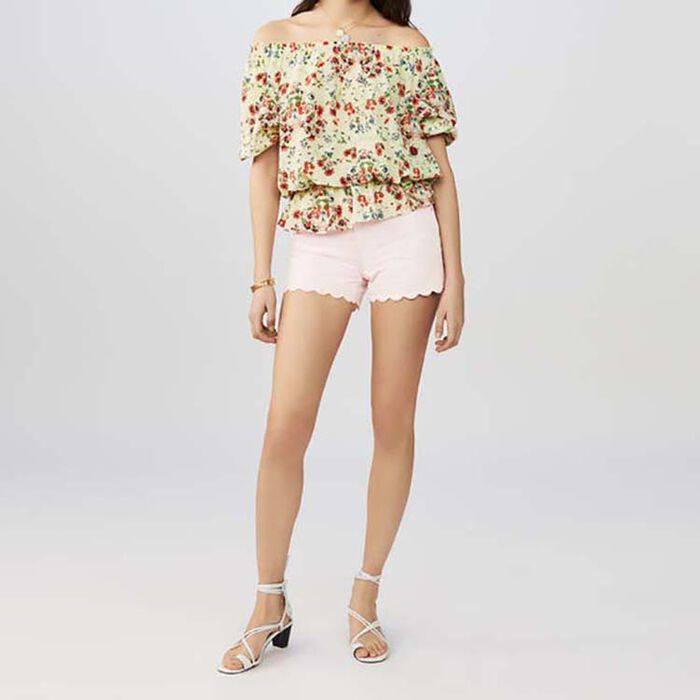 Printed silk top : Tops color PRINTED