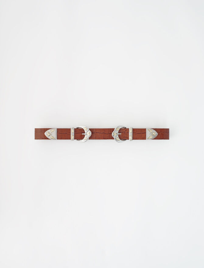 Western double buckle belt - Belts - MAJE