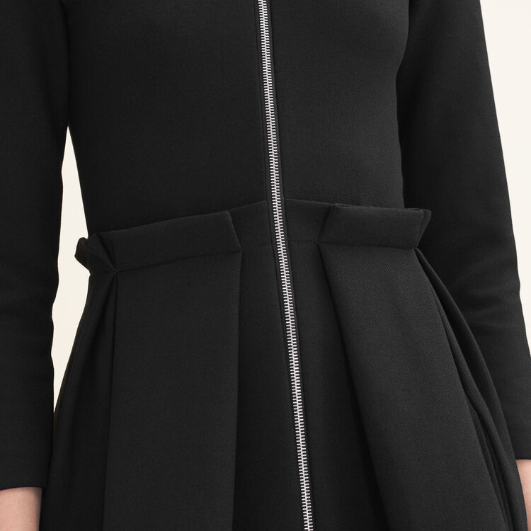 Zipped dress : New Collection color Black 210