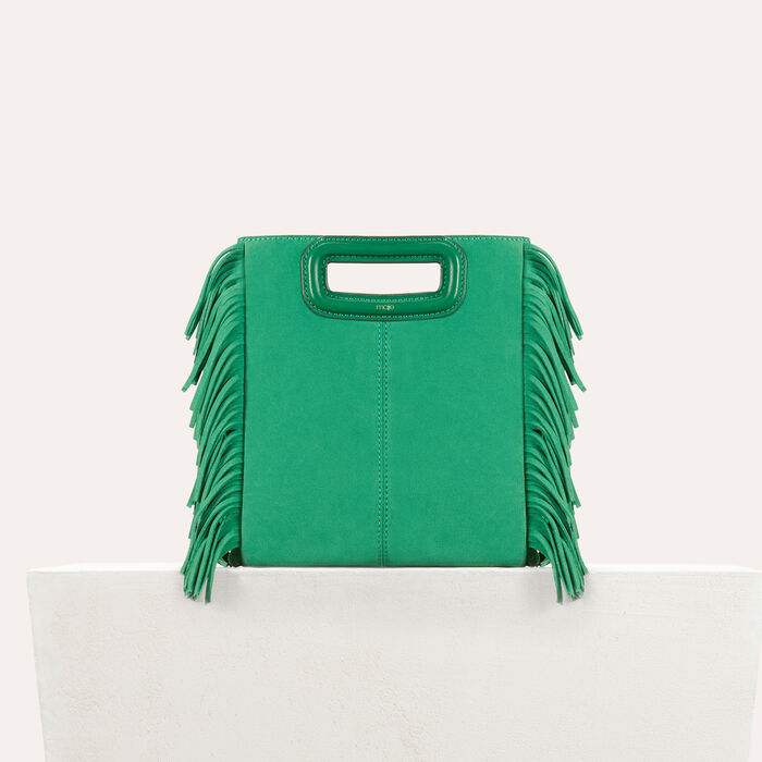Suede M bag : M bag color Emerald