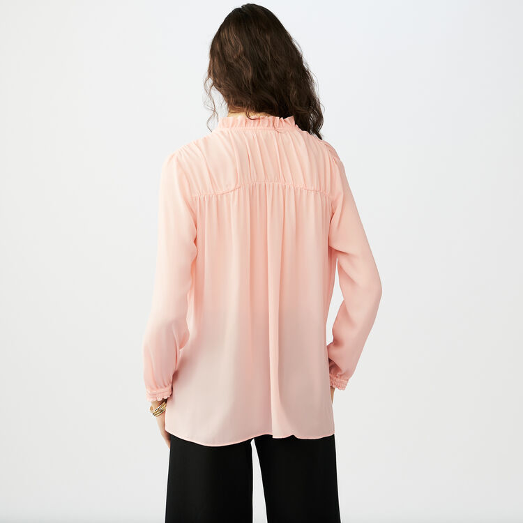 Blouse shirt with drawstring : Shirts color Pink