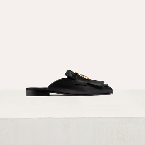 Leather shoes : Flat shoes color Black 210