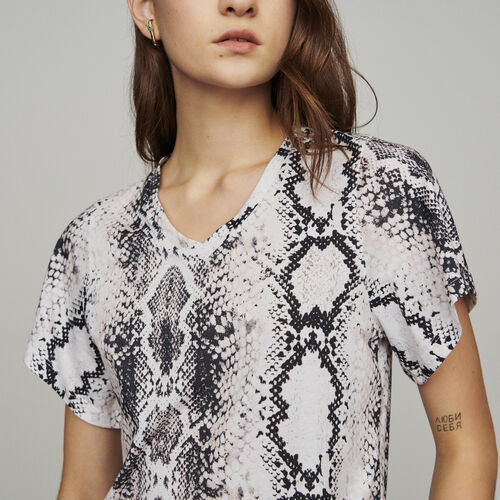 Tee-shirt with python print  : T-Shirts color Printed