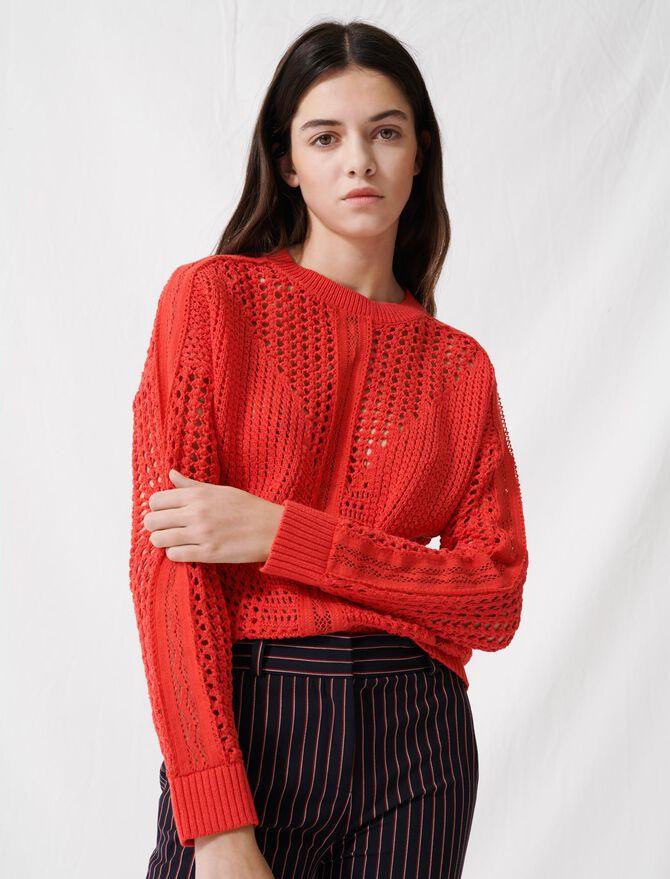 Crochet-style jumper - Knitwear - MAJE