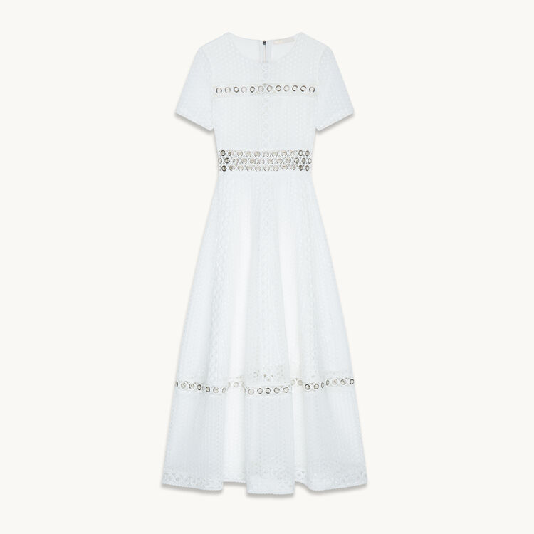 Long embroidered dress - Dresses - MAJE