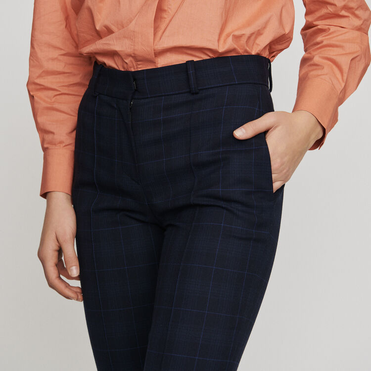 7/8 plaid trousers : New in : Summer Collection color Navy