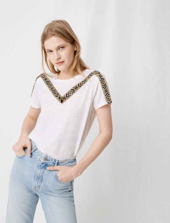 White T-shirt with tied back - T-Shirts - MAJE