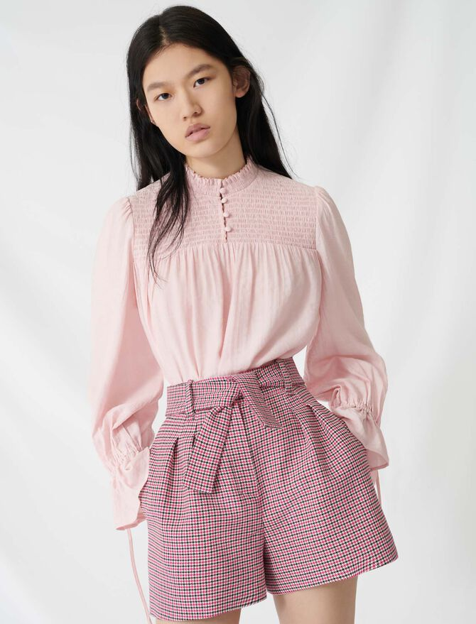 Belted checked shorts - All the collection - MAJE