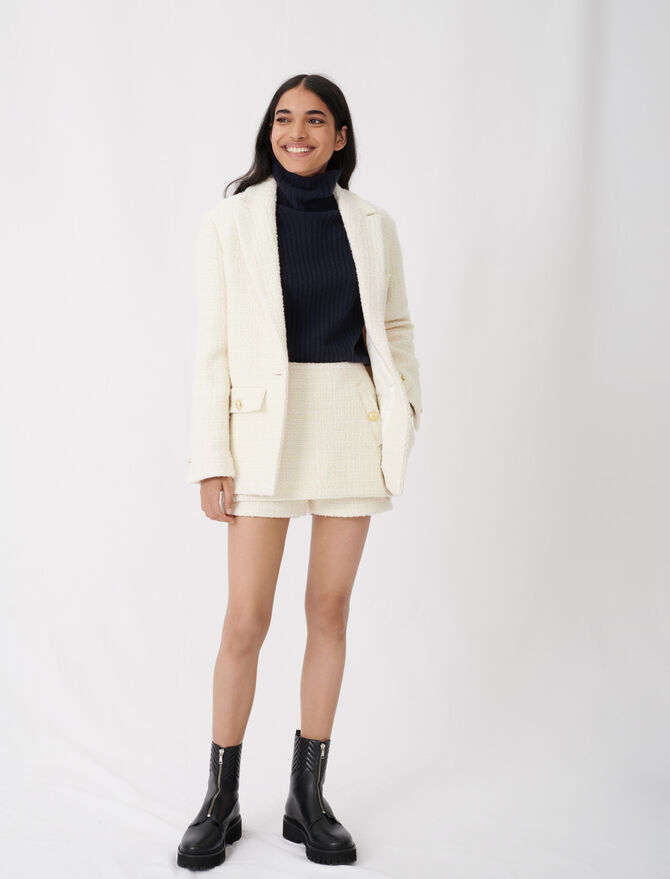 Tweed-style fitted jacket - Eco-friendly - MAJE