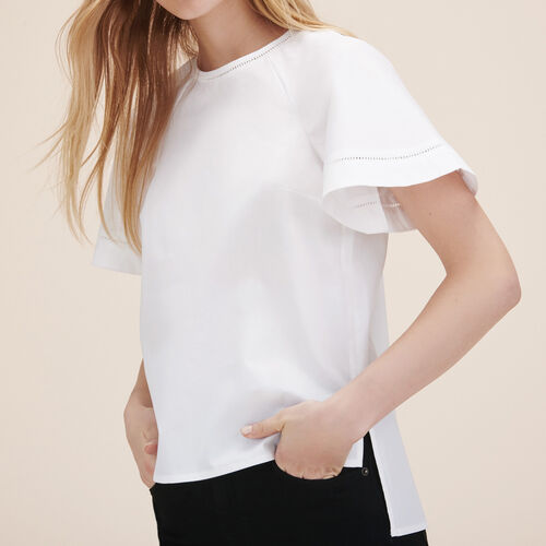 Top with openwork detail - Tops - MAJE
