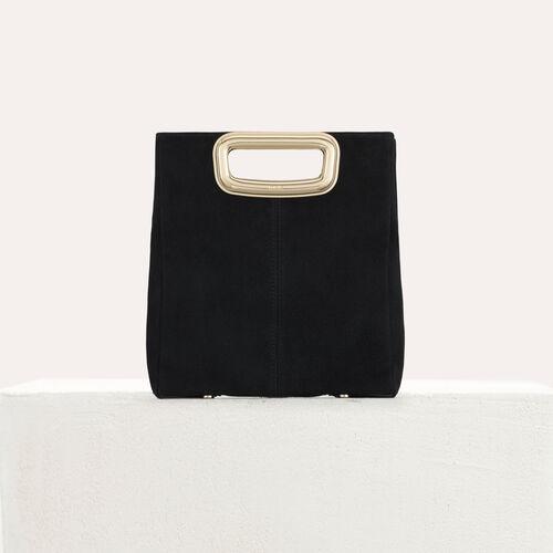 M Skin bag in suede : M bag color Black 210