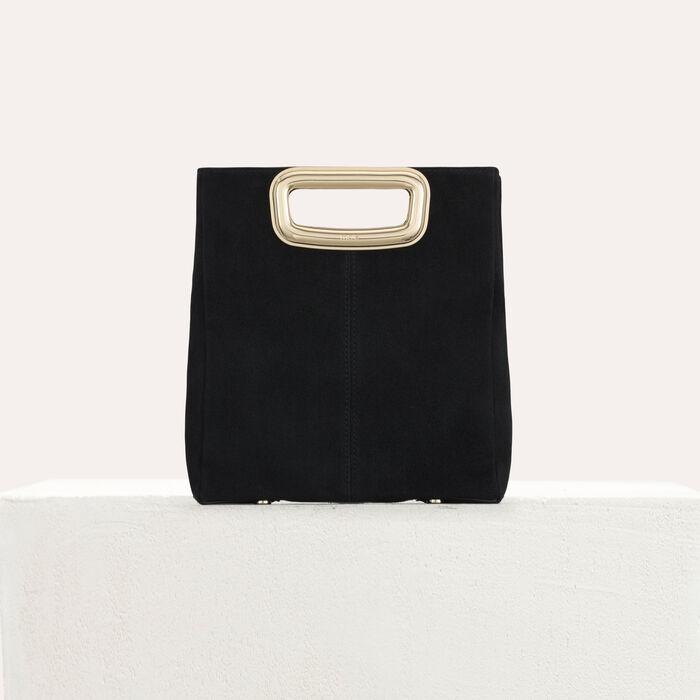 M Mini Skin bag in suede : M Skin color Black 210